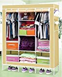 #6: Inditradition Multi-Functional Collapsible Storage Wardrobe | Folding Almirah, Closet | Steel Pipe & Non-Woven Fabric, 5.75 Feet Height (Grey Color)