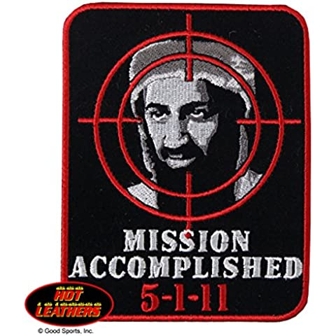 Hot Leathers, MISSION ACCOMPLISHED, High Thread Embroidered Iron-On / Saw-On Rayon PATCH - 3