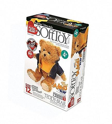 Plush Hearts - DIY Plush - Teddy Bear wearing a jacket 12cm