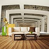Fototapete Treppenhaus im Haus Vlies Tapete Wandtapete - Tapete - Moderne Wanddeko - Wandbilder - Fotogeschenke - Wand Dekoration wandmotiv24 Größe: XL 350 x 245 cm - 7 Teile - Vlies