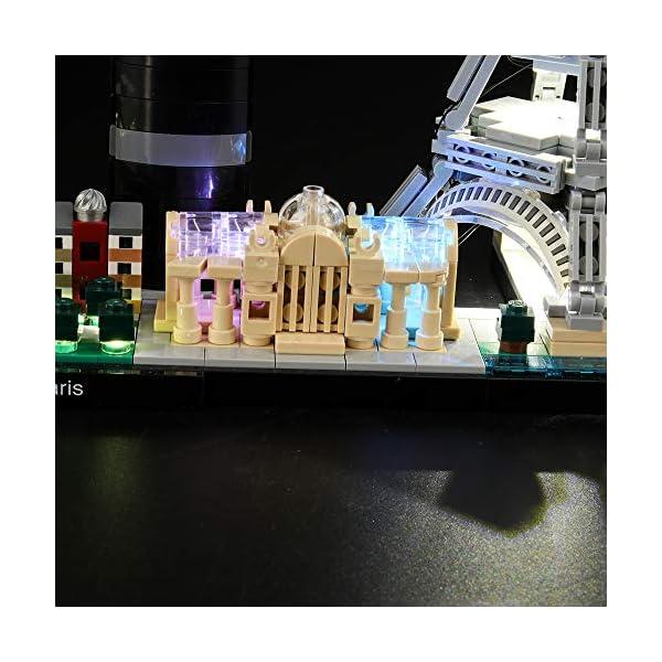 LIGHTAILING Set di Luci per (Architecture Parigi) Modello da Costruire - Kit Luce LED Compatibile con Lego 21044 (Non… 3 spesavip