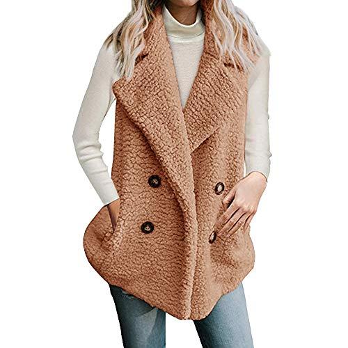 Innerternet Damen Herbst Winter Jacke Einfabige Umlegekragen Mantel Elegante Frauen Warme Faux Pelzmantel Jacke Casual Täglichen Party...