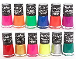 Makeup Mania Exclusive Nail Polish Set of 12 Pcs (Multicolor Set  74)
