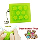 Aquiver Bubble Wrap Keychain Anti Stress Squeeze Relief Toy Fun Gift (Green)