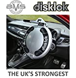 Anti Theft Thatcham 3 Steering Wheel Lock - Small Medium Large - Silver Or Retro Yellow - Disklok Disc Lock Disclock Disclok Disclok Disklock Defender Evoque etc.