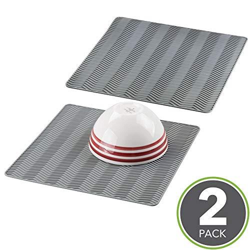 mDesign - Bayeta escurreplatos, de silicona, para mesada de cocina, diseño en...
