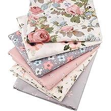 Tela de sarga de algodón, 6 piezas, tela de retales, tela de retazos