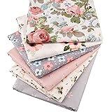 6 Stück/Lot Floral Series Twill-Baumwollstoff,