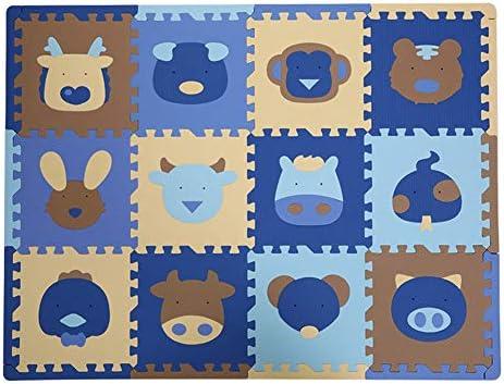 Lvbeis Tapis Jeu Puzzle Animal Tapis Rampant 12pcs Dalles