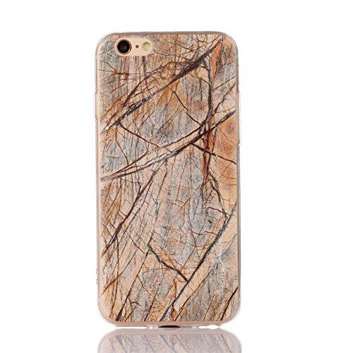 Landee TPU Housse Silicone Étui Marbling Coque pour iPhone 6S & iPhone 6 Coque (6S-T-209) 6S-T-202