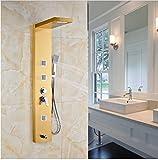 Gowe Wand montiert Badezimmer Dusche Wasserhahn Set Dusche Panel Badewanne Auslauf mit Handbrause Gold Finish