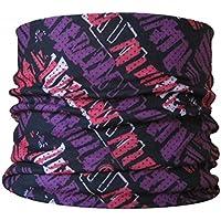 Braga para el cuello, pañuelo de microfibra multifunción, diseño de morado garabata