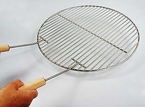 Ø 44,5 cm Edelstahl Grillrost + 2 Griffe für Kugelgrill 44 45 46 47 Weber geeignet, 4mm Stabdurchmesser!! Grill, Rost, Rundgrill, rund