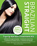 Brazilian Straight Top-Up Keratin Treatment Kit, Home Use Treatment Kit, Salon Quality Hair