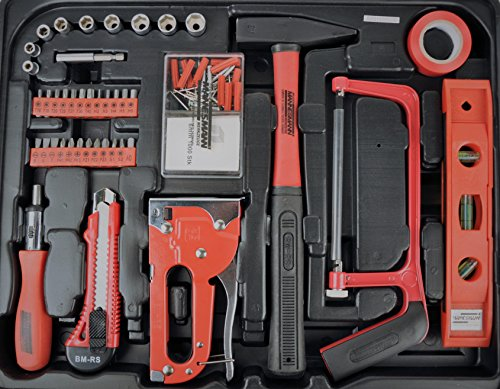 Mannesmann – M29065 – Assortimento di attrezzi per uso domestico in valigetta richiudibile - 3