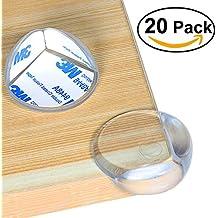 Protecciones para Bordes y Esquinas, Nazzamo Protección de Bordes Transparente Protectores de Esquina para Muebles con Adhesivo 3M(20 piezas)