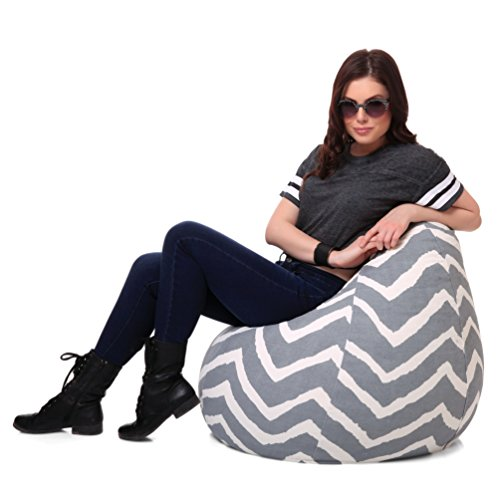 Style Homez Classic Cotton Canvas Stripes Printed Bean Bag XL Size Cover Only  available at amazon for Rs.1249