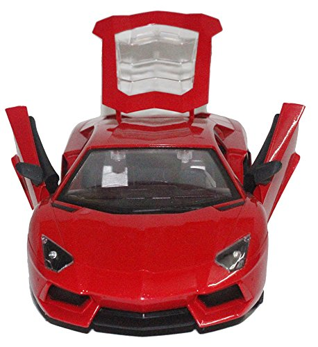 Brunte 1:14 Red open type Sporty sedan remote controlled car with opening door working lights well built design superb quality rechargeable battery  available at amazon for Rs.899