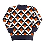 Miss U Boys High Quality Sift Warm Acrylic Wool Round Neck Comfort Fit Sweater Pullover For winter Wear (ORANGE, 3-4 Years)