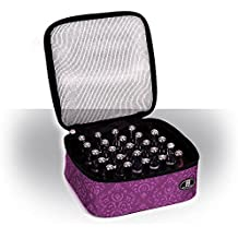 Roo Beauty Nail Polish Varnish Case, Manicure Storage Bag, Makeup Cosmetic Holder in Imperial Purple by Roo Beauty