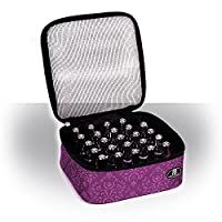 Roo Beauty Nail Polish Varnish Case, Manicure Storage Bag, Makeup Cosmetic Holder in Imperial Purple