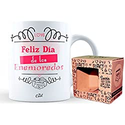 Mr Cool Taza 33 Cl en Caja Regalo con Mensaje Feliz Día de Los Enamorados, Cerámica, 15x10x5 cm