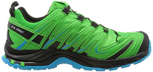Salomon Homme XA Lite GTX, Black/Quiet Shade/Monument, Synthétique/Textile, Chaussures de Course à Pied et Trail Running, Taille 44.6 Grün (peppermint-black-scuba blue)