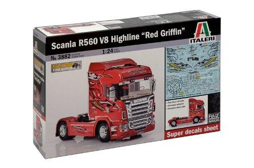 Italeri 510003882 - 1:24 Truck, Scania R560 V8 Highline Red Griffin