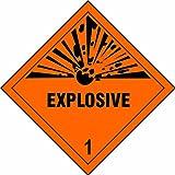 Spectrum Industrie 34.935,2cm Explosive 2,5cm Selbstklebendes Vinyl Schild Diamant, Mehrfarbig, 200x 200mm