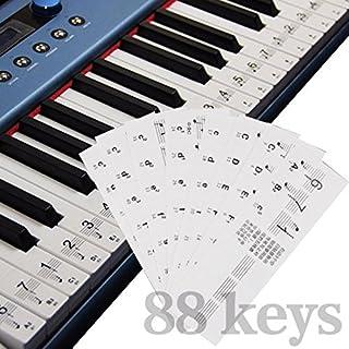 A-szcxtop 32/49/54/61/88Tasten Piano/Elektronische Organ Tastatur Aufkleber transparent abriebfest Spuren Piano Praxis Piano Tastatur Aufkleber