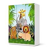 creatisto Folie Möbel für IKEA Pax Schrank 201 cm Höhe - 3 Türen | Möbelfolie Klebesticker Tapete Folie Möbel verschönern | Home & Style Esszimmer Home Deko | Design Motiv Wild Animals