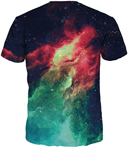 TDOLAH Herren Slim Fit 3D Farbspritzer Druck Muster T-Shirts Kurzarm Top Flamme