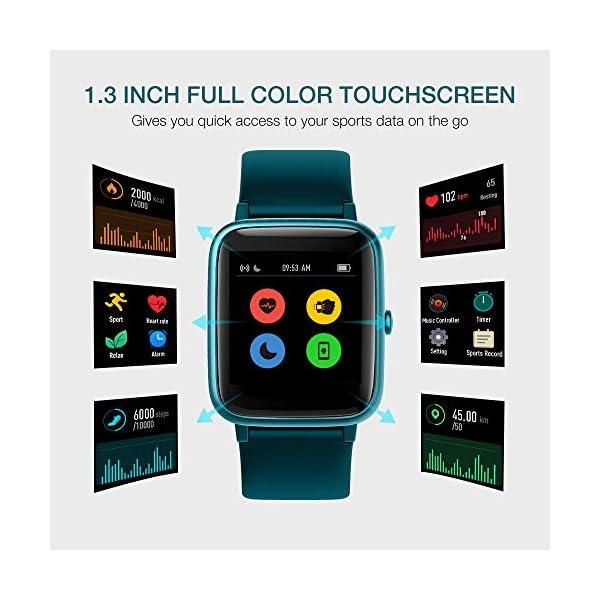 UMIDIGI Reloj Inteligente con Oxímetro (SpO2) Smartwatch con Monitoreo de Frecuencia Cardíaca para Hombre Reloj… 2