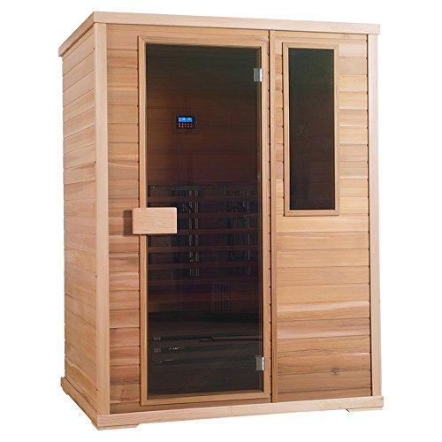 Infrarotkabine | Infrarot | Wärmekabine | Infrarotsauna | Sauna 150 x 100 I Red Zeder Holz, Strahler Art:Dual Strahler