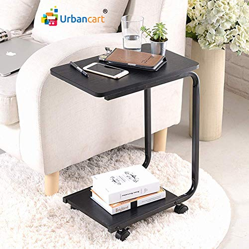 Urbancart® Laptop Table Trolley/Desk/Stand with Wheels for Home, Office