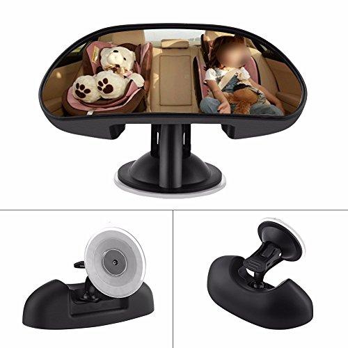 muzoct Baby Auto Spiegel universal Rear View Baby Spiegel mit Weitwinkel 360 Grad drehbar 14,7 x 5,5 cm