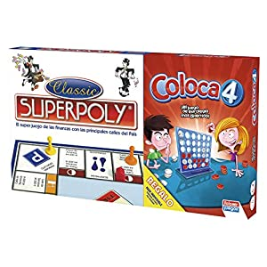 Falomir Superpoly + Coloca 4, Juego de Mesa, Clásicos, multicolor (646385)
