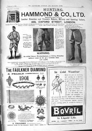 BOVRIL 1901 DI LONDRA DELLA CASA DI KIMBERLEY DEL DIAMANTE DELLA PUBBLICITÀ HAMMOND FAULKNER