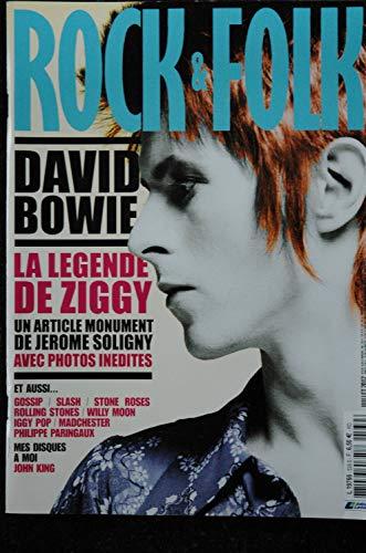 ROCK & FOLK 539 Juillet 2012 COVER DAVID BOWIE La légende de Ziggy Iggy Pop Gossip Slash Stone Roses Rolling Stones (Rolling Stone Magazin-cover)