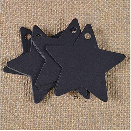 Party DIY Decorations - 100pcs Diy Star Kraft Paper Label Tags Wedding Christmas Halloween Party Favor Gift Card Luggage - DIY Kraft Tag Paper Tag Xmas Label Paper Confetti Decor Star Sta