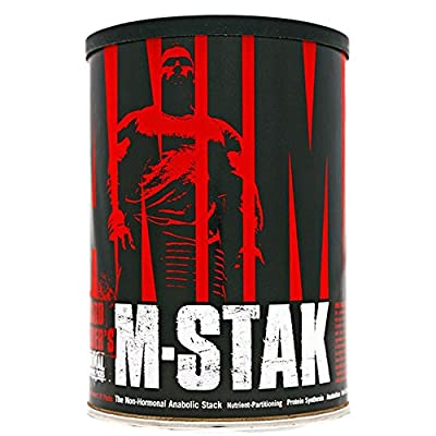 Animal Universal Nutrition M-STAK Hard Gainer Muscle Anabolic Kick Supplement, Pack of 21 from Animal