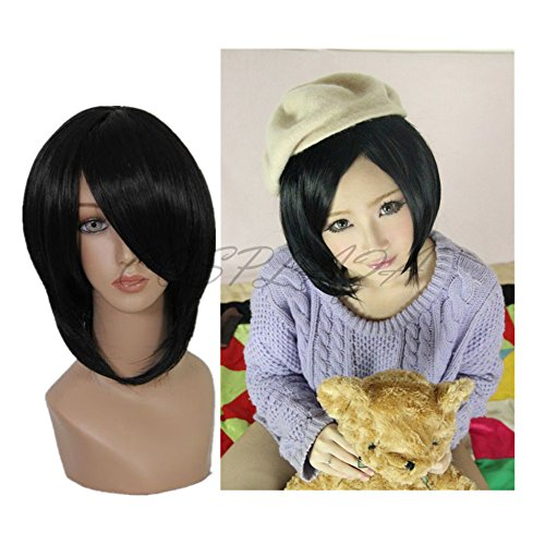 COSPLAZA Perruque Anime Cosplay Wigs Horace Wong Hong Kong Hetalia Axis Powers noire Cheveux