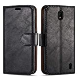 Case Collection Premium Leather Folio Cover for Nokia 1