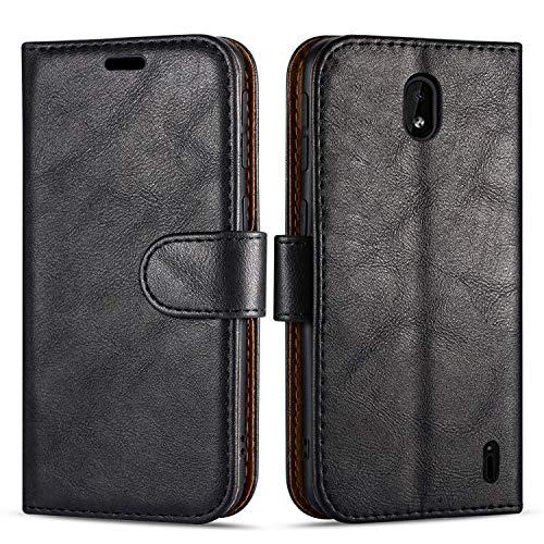 Case Collection Hochwertige Leder hülle für Nokia 1 Plus Hülle (5,45