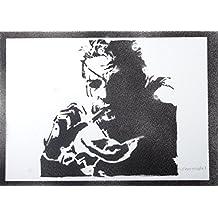 Solid Snake Metal Gear Hecho A Mano - Handmade Street Art Poster