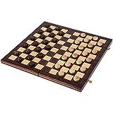 Damas de madera - 100 Campo - SQUARE - Checkers - 40 x 40 cm