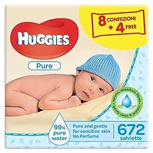 Huggies Pure Salviette Umidificate per Bambini, 12 Pacchi da 56 Pezzi 1 spesavip