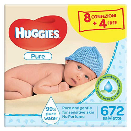 Huggies - Toallitas para bebe, 4 paquetes de 3 unidades cada uno (12 paquetes en total)