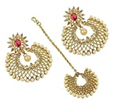 Indian Bollywood Design Gold Plated Crys...
