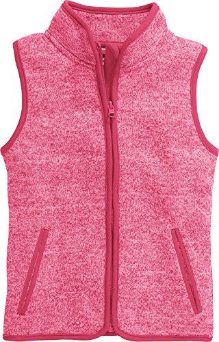 Playshoes Mädchen Strickfleece-Weste mit Kontrastnähten, Oeko-Tex Standard 100 Weste, per Pack Rosa (pink 18), 98 (Herstellergröße: 98)